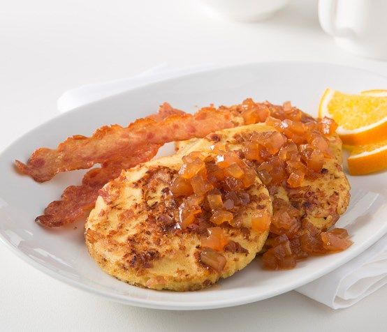 Chicken Bacon Apple Pancakes