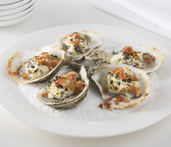 Oysters Rockefeller with Chicken Bacon - Pierce Chicken
