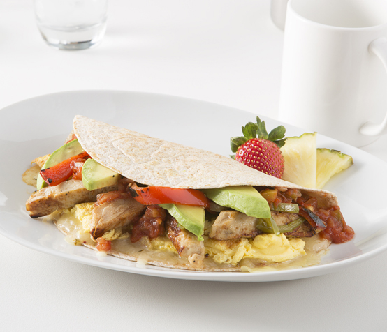 Surfer's Chicken Fajita Omlet
