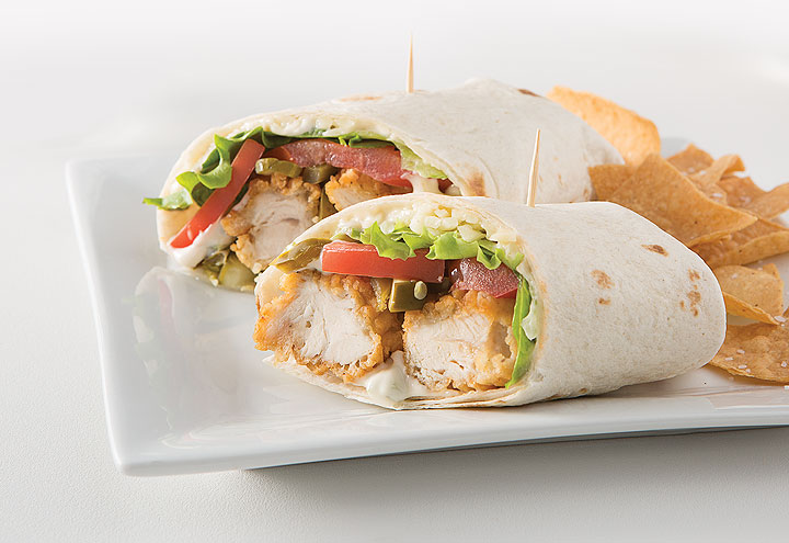 image of chicken wrap